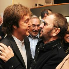 """Ringo Starr (with Paul McCartney) - """"I'd like to end up sort of unforgettable. Beatles Party, Beatles Love, Great Bands, Cool Bands, Paul Mccartney Ringo Starr, Liverpool, Photo Souvenir, Sir Paul, Music Pics"""