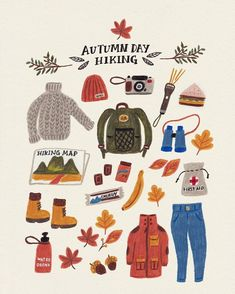 Autumn and Winter will always be my favourite illustration ideas Illustration Inspiration, Illustration Art, Winter Illustration, Autumn Aesthetic, Guache, Stickers, Autumn Day, Grafik Design, Autumn Inspiration