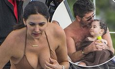 Lauren Silverman lets Simon take over daddy duties with his son Eric
