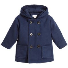 ABSORBA Baby Boys Navy Blue Wool Coat