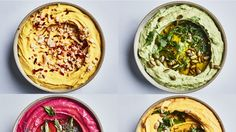 1 Easy Hummus Recipe, 5 Ways to Mess with It Spicy hummus, avocado hummus, curriy sweet potato hummus – that's just the beginning. Avocado Hummus, Chickpea Hummus, Chickpea Recipes, Spicy Recipes, Whole Food Recipes, Vegetarian Recipes, Cooking Recipes, Healthy Recipes, Easy Hummus Recipe