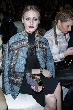 Olivia Palermo - H&M Studio Fall 2016 Fashion Show Front Row - March 2, 2016 #PFW