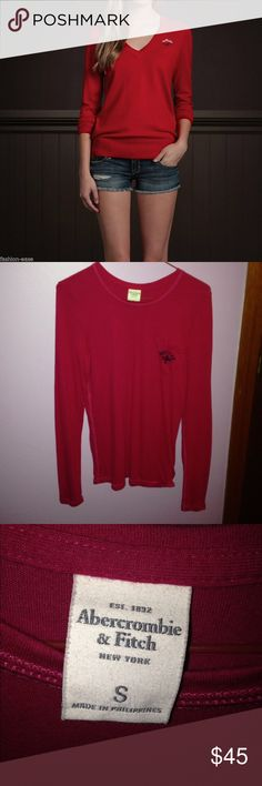 Abercrombie & Fitch Top Abercrombie & Fitch Top. Red. Size S. Never worn and great condition. **not the exact product from cover photo** Abercrombie & Fitch Tops
