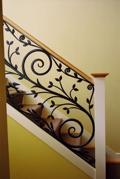 New home designs latest.: Modern homes iron stairs railing designs.