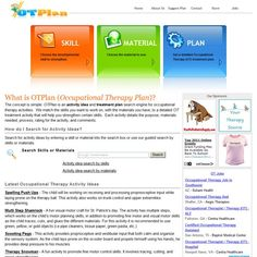 Occupational Therapy Ideas/Activities by OTPlan www.otplan.com (gross and fine motor and more)