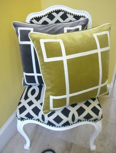Image detail for -Charcoal and Dark Chartreuse. What a great color combination!