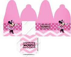 Pretty Minnie in Pink: Free Printable Boxes. Minnie Mouse, Pink Minnie, Printable Box, Free Printables, Pink Parties, Blogger Templates, Paper Toys, Toy Boxes, Pretty