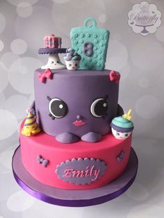 Shopkins Birthday Cake by Butterfly Cakes and Bakes