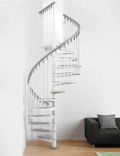 grey white stairs