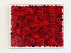 leftleg designs: Red Barnacles - free form crochet