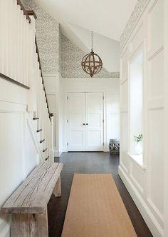 Ideas Wallpaper Accent Wall Entryway Front Doors For 2019 Small Closet Redo, Simple Closet, Master Closet Design, Walk In Closet Design, Rustic Closet, Wooden Closet, Door Bench, Entrance Foyer, Entryway