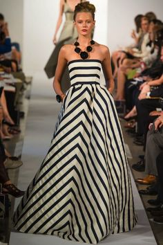 Christian Dior Striped Gown: Seeing Stripes - Jenni Sellan, Brisbane | Stylehunter.com