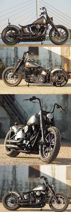 Customized #Harley-Davidson #Softail Slim by #Thunderbike #harleydavidsoncustomsoftail #harleydavidsonstreetrod #harleydavidsonsoftailslim