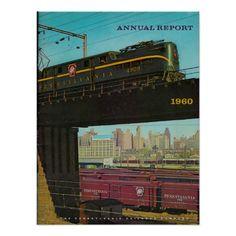 Pennsylvania Railroad Annual Report 1960 Vintage Poster