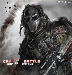 Cry to Battle (Photoshop cs3)
