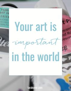 'your art is important in the world {and how I know this even if I haven't seen it}...!' (via taraleaver.com) Painting Lessons, Diy Painting, Painting & Drawing, Art Lessons, Art Folder, Selling Art, Art Tips, Art Blog, Art Techniques