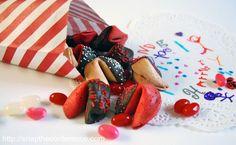 Valentine's Day Fortune Cookies. #valentinesday #valentine