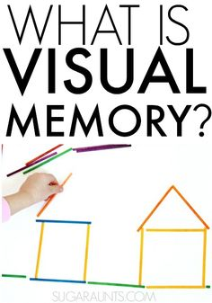 What is visual memory and why is it necessary for development of functional skills like handwriting and reading? Tips and activities from to work on visual memory in kids and adults. People on the Autistic spectrum have strong visual memory skills Therapy Activities, Learning Activities, Sensory Activities, Visual Perceptual Activities, Pediatric Occupational Therapy, Pediatric Ot, Improve Your Handwriting, Handwriting Practice, Working Memory