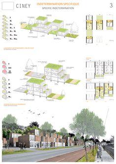 Ciney, Bélgica Lámina 02 Image Courtesy of Atelier + Gwenaël Massot - architecture Croquis Architecture, Architecture Graphics, Architecture Portfolio, Sustainable Architecture, Landscape Architecture, Landscape Design, Green Landscape, Architecture Diagrams, House Architecture