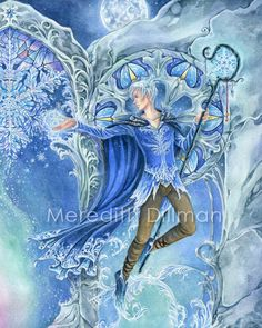 Jack Frost  Winter Fantasy art by meredithdillman on Etsy