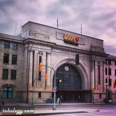 Winnipeg.  Via Rail train station at the forks.