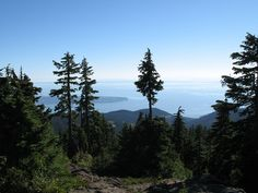 Starting from Cypress Mountain, Hollyburn Mountain offers a scenic view of Burrard Inlet and the Lions off in the distance. Vancouver Seattle, Mountain Illustration, Mountain Hiking, Hiking Trails, Explore, North Shore, Mountains, City, Places