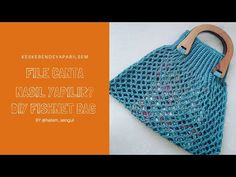 FİLE ÇANTA YAPIMI 1| FİLELİ PAZAR MARKET ÇANTASI | DIY FISHNET BAG - YouTube Crochet Bag Tutorials, Crochet Purse Patterns, Crochet Tote, Crochet Purses, Crochet Videos, Diy Bags And Purses Patterns, Diy Bags Purses, Diy Purse, Diy Backpack