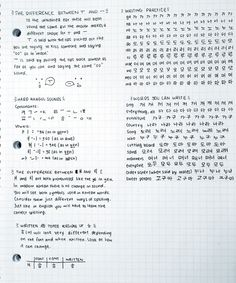 ~ Here are some hangul notes from when I started learning, some of you have asked me to send them to you, so I figured I should post them Those notes are from the Korean from zero. Korean Words Learning, Korean Language Learning, Learn A New Language, Hangul Alphabet, Korean Alphabet, How To Speak Korean, Learn Korean, Korean Handwriting, Learn Hangul
