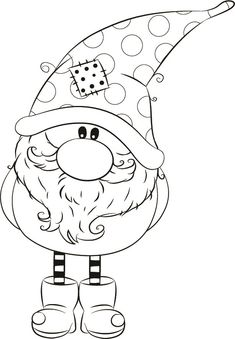 Thomas winter Gnome Coordinating Die Cut below. Christmas Coloring Pages, Coloring Book Pages, Coloring Sheets, Christmas Gnome, Christmas Colors, Christmas Crafts, Illustration Noel, Christmas Drawing, Theme Noel