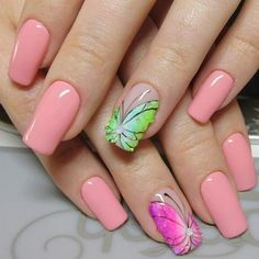 butterfly nail art spring summer manicure designs