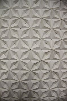 origami study great idea for modular 3D wall surface modul tile with polygonal quadratic pattern