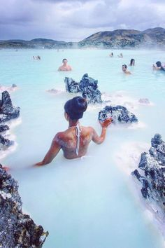 Iceland natural springs