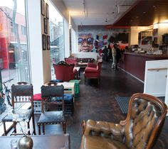 Shadows of Envy is a modern gallery space, cafe and bar in Melbourne's inner city. You'll be welcomed with a large comfortable space with vintage couches and soothing jazz.