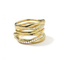 Ippolita 18K Gold Drizzle Pavé Diamond Ring -Diamond $3,800