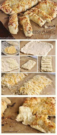 Stuffed cheesy garlic bread