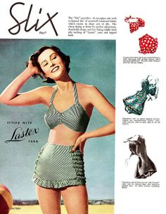 A 1940's style bathing suit.