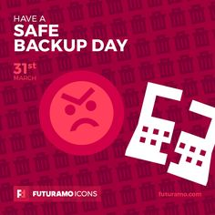 Have a safe backup day! Check out our FUTURAMO ICONS – a perfect tool for designers & developers on futuramo.com