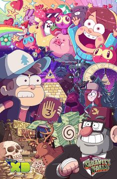 "After a year of constant waiting, Disney Channel/Disney XD finally brings us the long-awaited second season of Gravity Falls! ""What exactly is Gravity. Gravity Falls Poster, New Gravity Falls, Gravity Falls Waddles, Gravity Falls Comics, Dipper Et Mabel, Monster Falls, Desenhos Gravity Falls, Gavity Falls, Reverse Falls"