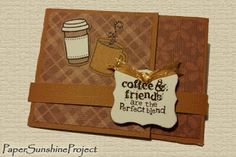 Paper Sunshine Project - How To - Instructions for Tri-Fold Gift Card Holders - Lawn Fawn & Stampin' Up