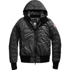 Canada Goose Dore Hooded Down Jacket (£425) ❤ liked on Polyvore featuring canada goose