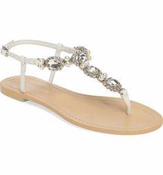 1e529b6230f829 Bella Belle Hera Embellished T-Strap Sandal (Women)