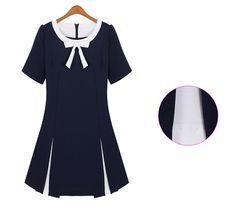 Cute Bowknot Decorated Blue Stylish Dress - Dresses Read More: http://www.fashionant.com/cute-bowknot-decorated-blue-stylish-dress.html find more women fashion ideas on www.misspool.com