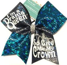Bows by April - Im a Drama Queen So Give Me My Crown Crackle Mystique Cheer Bow, $18.00 (http://www.bowsbyapril.com/im-a-drama-queen-so-give-me-my-crown-crackle-mystique-cheer-bow/)