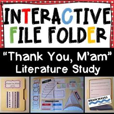 Your students will love this 5-day fun and engaging literature study of Thank You, Mam.  In this unit students will be assembling Interactive File Folders as they develop a deep understanding of the text.  The 3-D shapes and Interactive File Folders pr