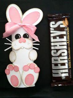 Bunny candy bar holder
