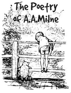 a.a. milne works | The Poetry of AA Milne