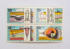 """DDR Museum - Museum: Objektdatenbank - """"Briefmarken Geophysik"""" Copyright: DDR Museum, Berlin. Eine kommerzielle Nutzung des Bildes ist nicht erlaubt, but feel free to repin it!"""