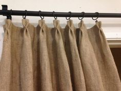 Butterfly pleated burlap curtain Home and by pillowpuff on Etsy... Need for our beach themed guest bedroom!!