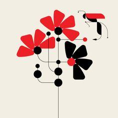 New Geometric Creatures from TRÜF Creative Geometric Shapes Art, Geometric Bird, Geometric Tiles, Motif Art Deco, Indian Folk Art, Colossal Art, Shape Art, Flash Art, Fabric Painting