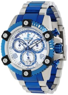 Men's Wrist Watches - Invicta Mens 13714 Arsenal Chronograph Mother of Pearl Dial Two Tone Stainless Steel Watch ** See this great product.